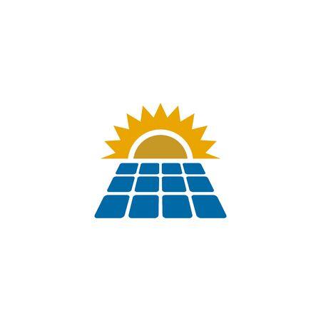 Solar energy logo design inspiraiton vector template Standard-Bild - 133494495