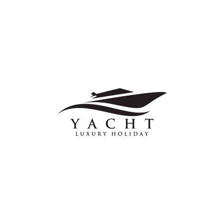 Modello di vettore di ispirazione per il design dell'icona del logo dello yacht