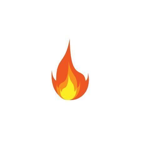 Fire illustration logo design inspiration vector template Foto de archivo - 133379537