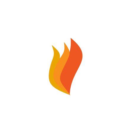 Fire illustration logo design inspiration vector template Foto de archivo - 133379538