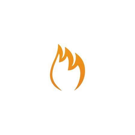 Fire illustration logo design inspiration vector template Foto de archivo - 133379539