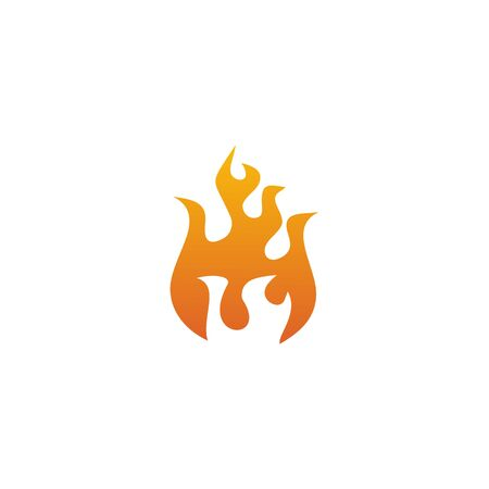 Fire illustration logo design inspiration vector template Foto de archivo - 133379545