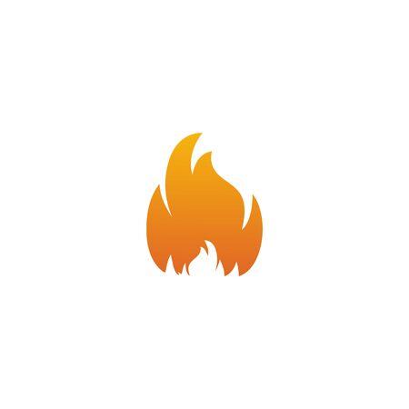 Fire illustration logo design inspiration vector template Foto de archivo - 133379542
