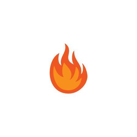 Fire illustration logo design inspiration vector template Foto de archivo - 133379544