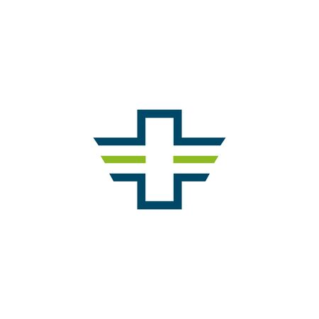 Medical and health care icon logo design vector template