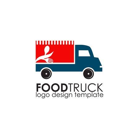 Food truck icon logo design vector illustration template