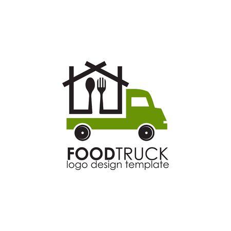 Food truck icon logo design vector illustration template Stockfoto - 133451329