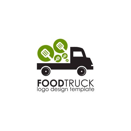 Food truck icon logo design vector illustration template Stok Fotoğraf - 133451335