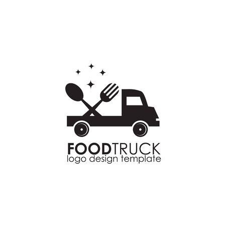 Food truck icon logo design vector illustration template Stok Fotoğraf - 133451338