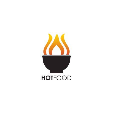 Food logo design with using bowl icon illustration template Stock Illustratie