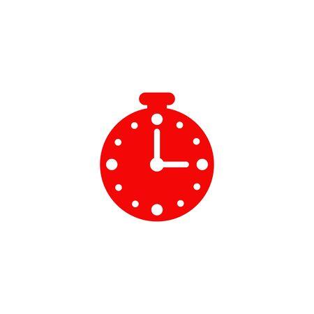 Clock icon logo design vector illustration template