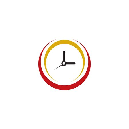 Clock icon logo design vector illustration template