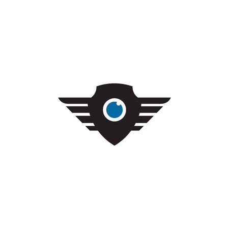 Drone icon logo design vector illustration template