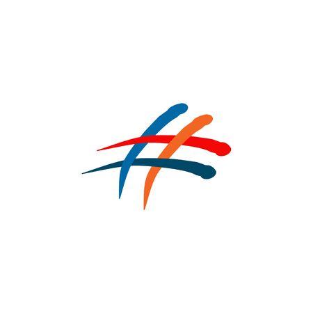 Hashtag icon logo design inspiration vector template
