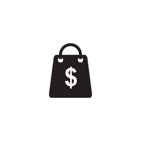 Shopping bag icon logo design vector illustration template