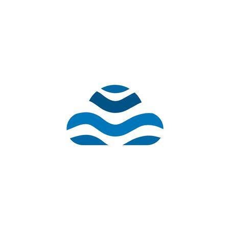 Cloud icon logo design vector illustration template