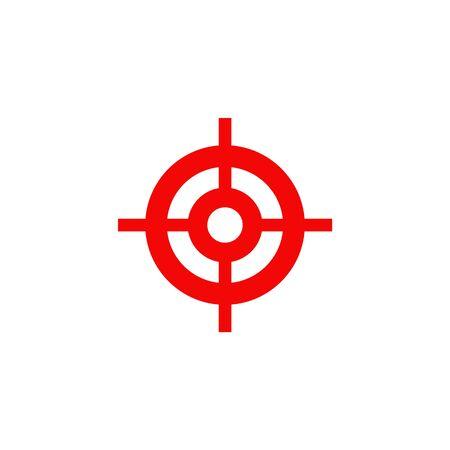 Target point icon logo design vector illustration template