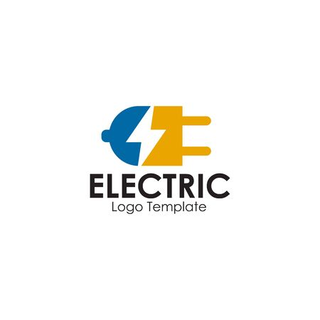 Electric plug in logo design inspiration vector template 矢量图像
