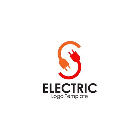 Electric plug in logo design inspiration vector template Illusztráció