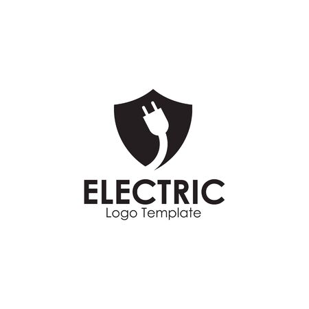 Electric plug in logo design inspiration vector template Vectores