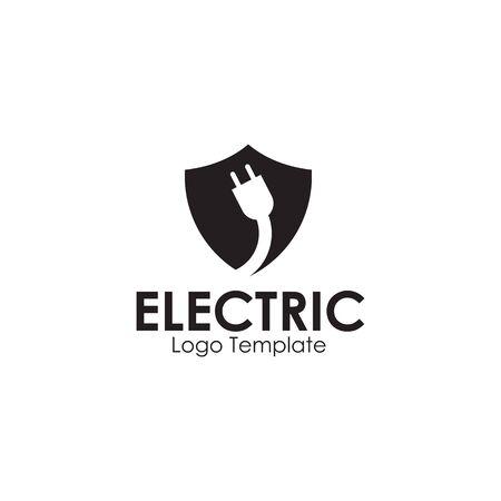 Electric plug in logo design inspiration vector template Illustration