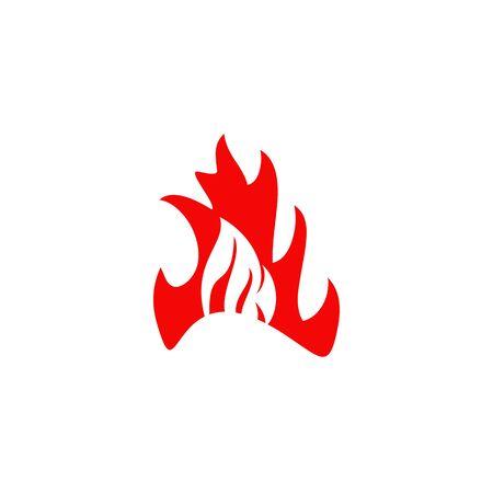 Fire flame icon logo design inspiration vector template Foto de archivo - 133459987