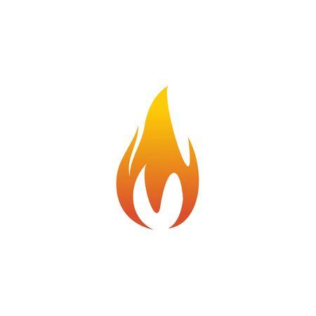Fire flame icon logo design inspiration vector template Foto de archivo - 133459998