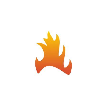 Fire flame icon logo design inspiration vector template Foto de archivo - 133460008