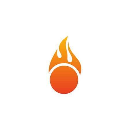 Fire flame icon logo design inspiration vector template Foto de archivo - 133460011
