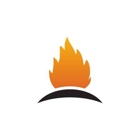 Fire flame icon logo design inspiration vector template Illusztráció