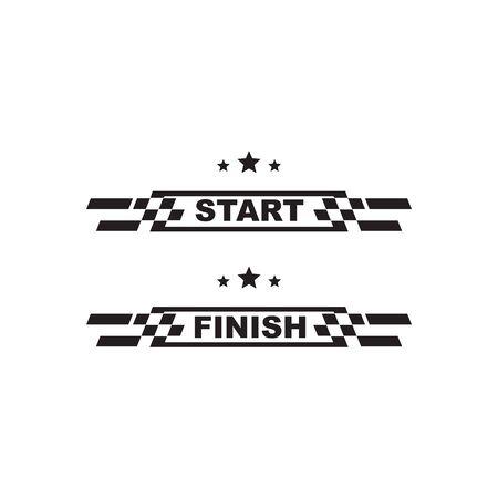 Race flag icon logo design inspiration vector illustration template Ilustração