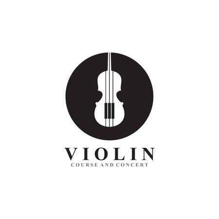 Violin icon logo design inspiration vector template Illustration
