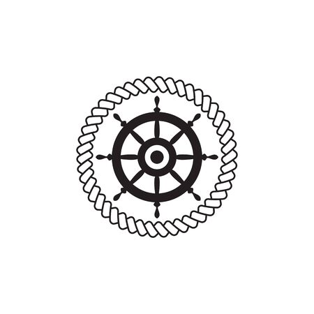 Ship steering icon logo design vector template 向量圖像