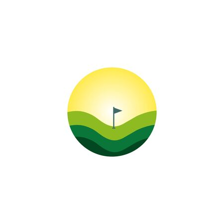 Golf club icon logo design inspiration vector template