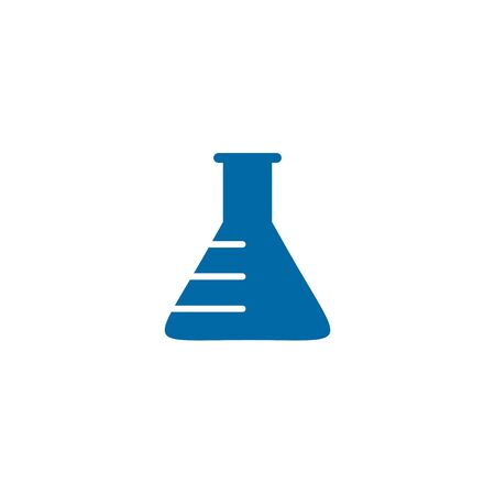 Lab logo design with using chemical bottle icon logo design vector template