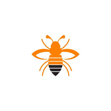 Bee icon logo design inspiraiton vector template 矢量图像