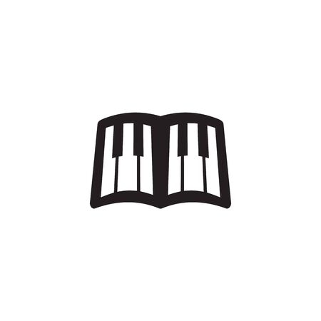 Piano logo icon design inspiration vector template Illustration