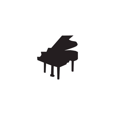 Piano logo icon design inspiration vector template Ilustrace