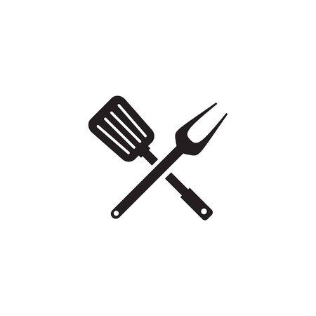 Restaurant icon logo design inspiration with using spatula template Illustration