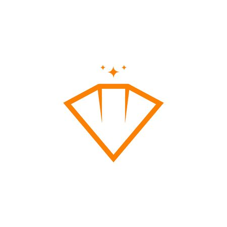 Diamond logo icon design inspiration vector illustration Illusztráció