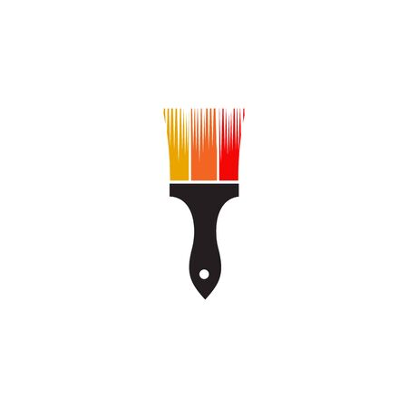Paint brush icon logo design inspiration vector template