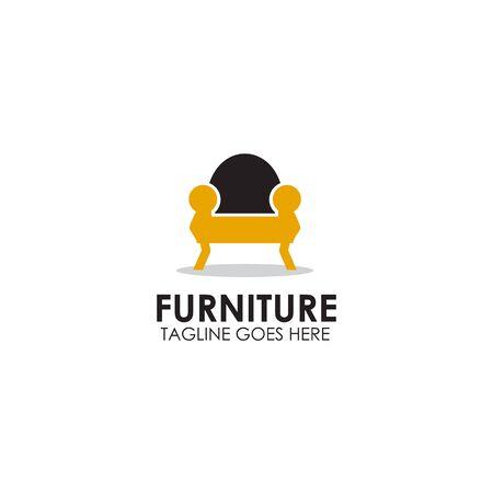 Meubles chaise icône logo design modèle vecteur d'inspiration