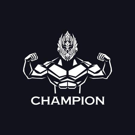 Fitness gym logo design vector illustration template Illusztráció