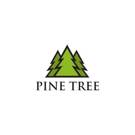Pine tree icon logo design inspiraiton vector template Illustration