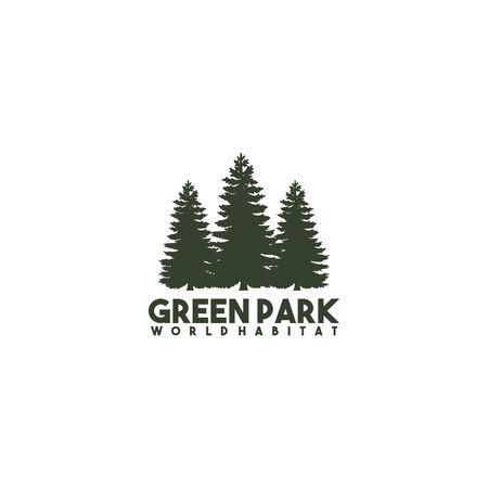 Pine tree icon logo design inspiraiton vector template Ilustração