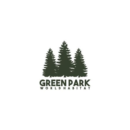 Pine tree icon logo design inspiraiton vector template Illustration