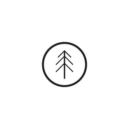 Pine tree icon logo design inspiraiton vector template 版權商用圖片 - 134532324