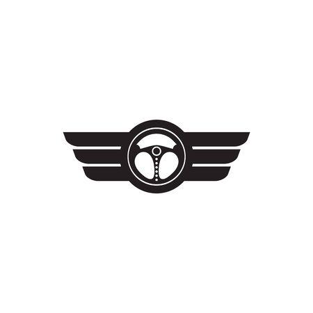 Car steering icon logo design vectortemplate Stock Vector - 134532678