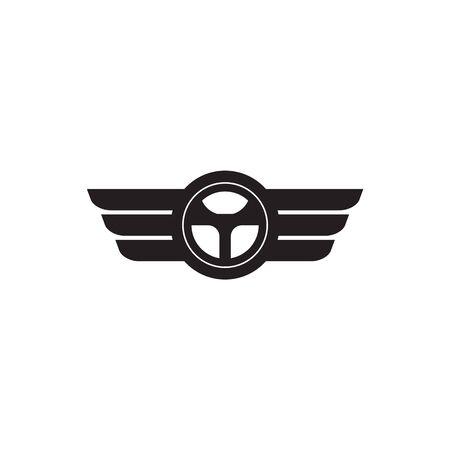 Car steering icon logo design vectortemplate Stock Vector - 134532680