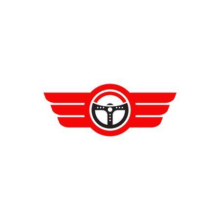 Car steering icon logo design vectortemplate Stock Vector - 134532681